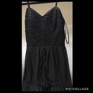 Black sequin dress